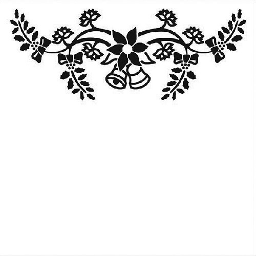 Embossing Folder 130x130mm - Christmas bells