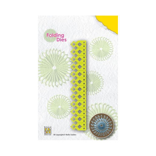 Nellie's Rosette Folding Die sharp point