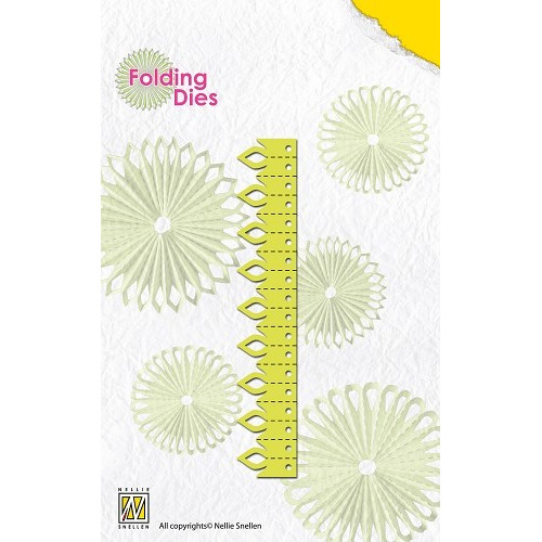 Rosette folding Dies flowers with leaves