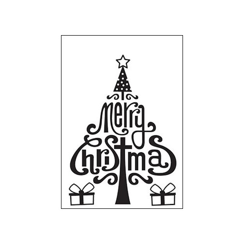Embossing folder merry christmas