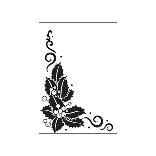 Embossing folder holly