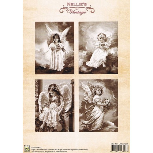 Nellie Snellen Decoupage sheets colour vintage little angels