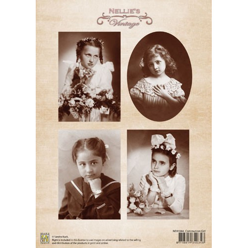 A4 knipvel Nellie's Vintage NEVI044