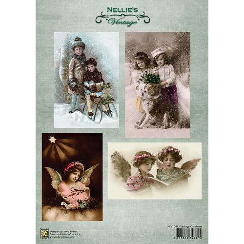 Decoupage sheets A4 Vintage Vintage Christmas
