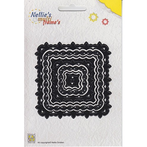 Nellies Multi Frame Die - Square lilly