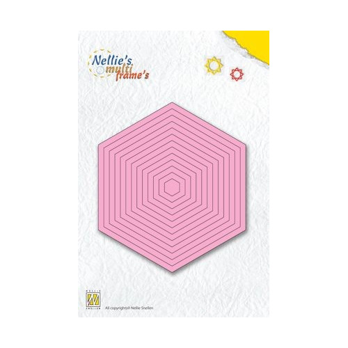 Nellie's Multi Frame Die straight hexagon