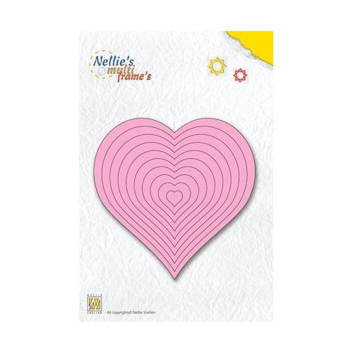 Nellie`s Multi Frame Die straight heart