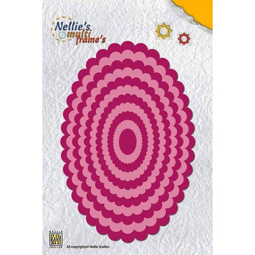 Nellie`s Multi Frame Die Large wavy oval
