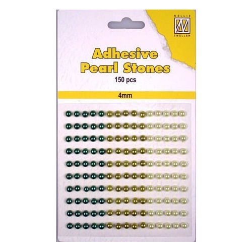 150 plak parels 4mm. 3 kleuren: bruin APS405