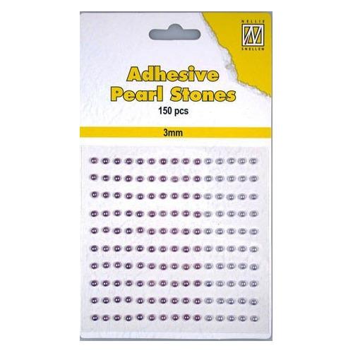 150 plak parels 3mm. 3 kleuren: paars APS306