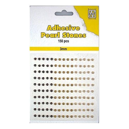 150 plak parels 3mm. 3 kleuren: bruin APS305