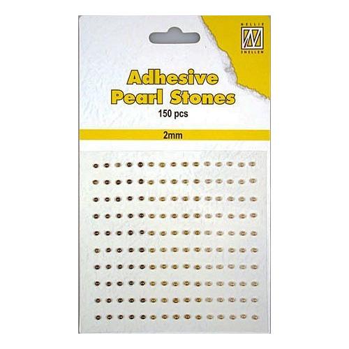 150 plak parels 2mm. 3 kleuren: bruin APS205