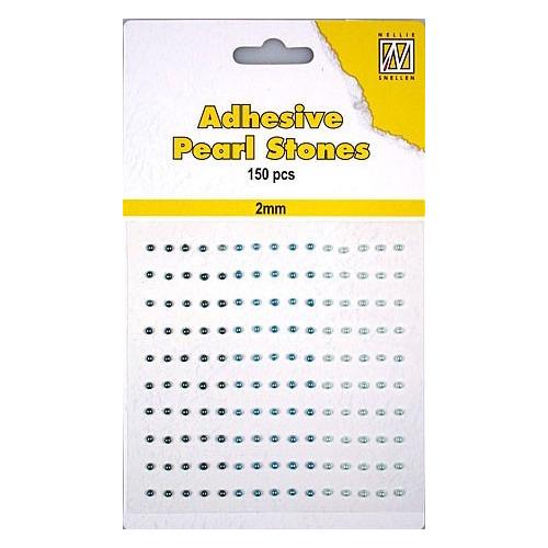 150 plak parels 2mm. 3 kleuren: blauw APS203