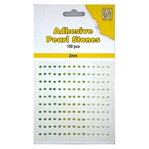 150 plak parels 2mm. 3 kleuren: groen APS202