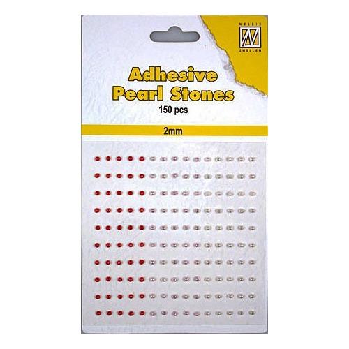 150 plak parels 2mm. 3 kleuren: rood APS201