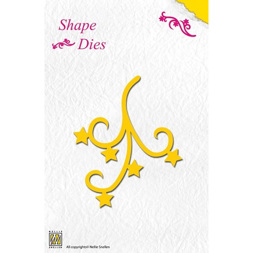 Nellie`s Shape Dies star swirl
