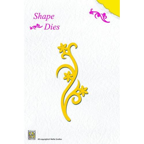 Nellie's Shape Dies flower swirl