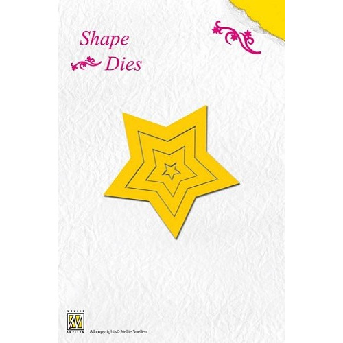Nellie's Shape Dies 5-point star