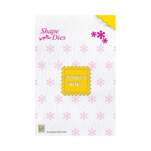 Shape Die Text Joyeux Noel
