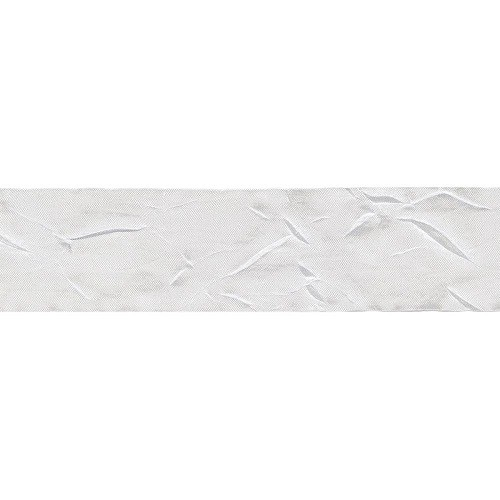 Silky Crushed Ribbon - White  1 meter
