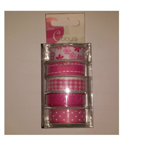 AVEC Colours unlimited deco ribbon roze