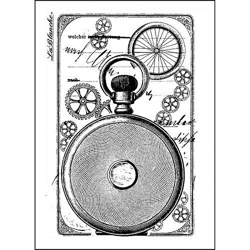LaBlanche Silicone Stamp - Clock Back