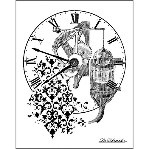 LaBlanche Silicone Stamp - Time Collage