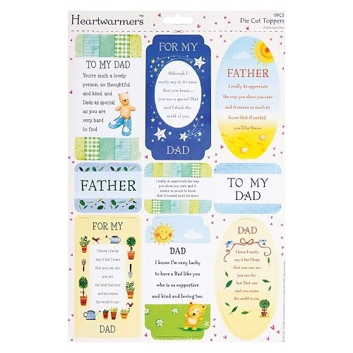 A4 Die-Cut Heartwarmer Sparkling Sentiments - (Dad)
