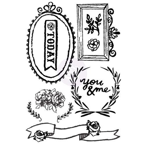 OPTIMIST Prima Cling Stamp Set