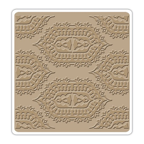 Sizzix Textured Impressions 6X6 Embossing Folder Indian Pri