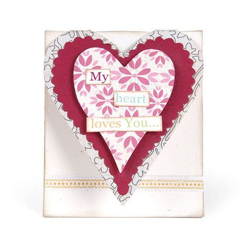 Sizzix - Bigz L Die - Die Cutting Template - Card, Mini Heart
