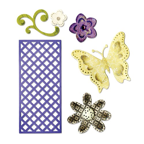 Thinlits Die Set Butterfly, Flowers & Lattice Rachael Bright
