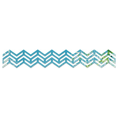 Sizzix Sizzlits Dec. Strip Die - Chevron Border  Karen Burniston