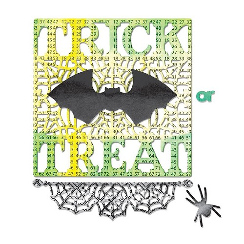 Sizzix Thinlits Die Set 4PK - Trick or Treat by jen Long-Philips