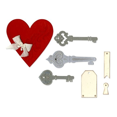 Sizzix Thinlits Hearts, Keys and Tags