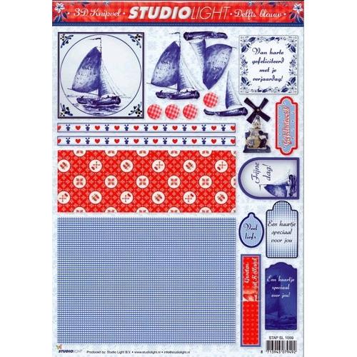 Studio Light knipvel delfts blauw