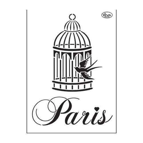Universal stencil - Birdcage/Paris