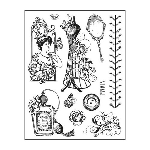 Viva Clear Stamp - Paris Couture