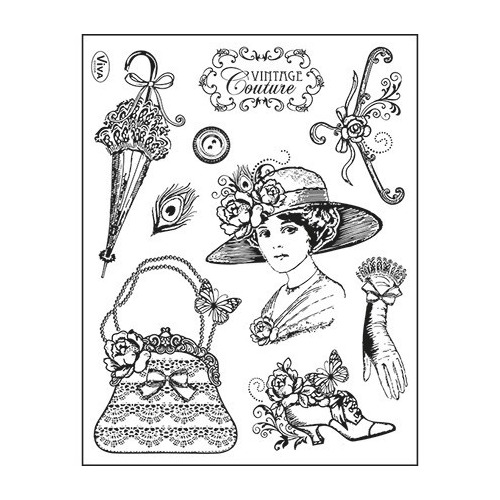 Viva Clear Stamp - Vintage Couture