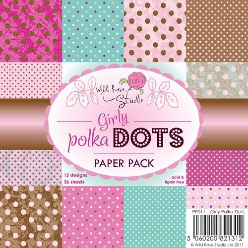 1 PK (1 PK) 6x6 Paper Pack Girly Polka Dots a 36 VL