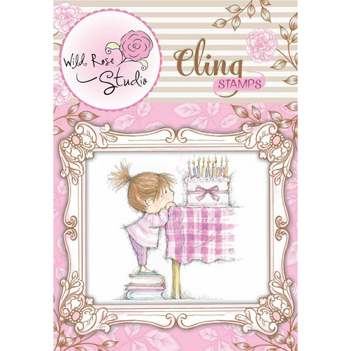 1 ST (1 ST) Cling stamp Birthday Girl