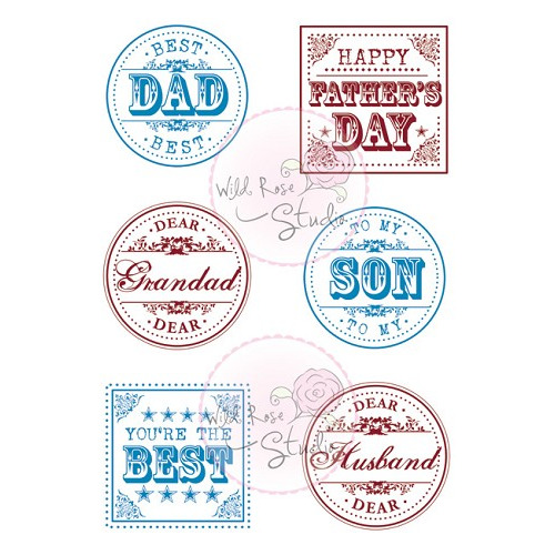 1 ST (1 ST) A7 stamp set Men Greetings