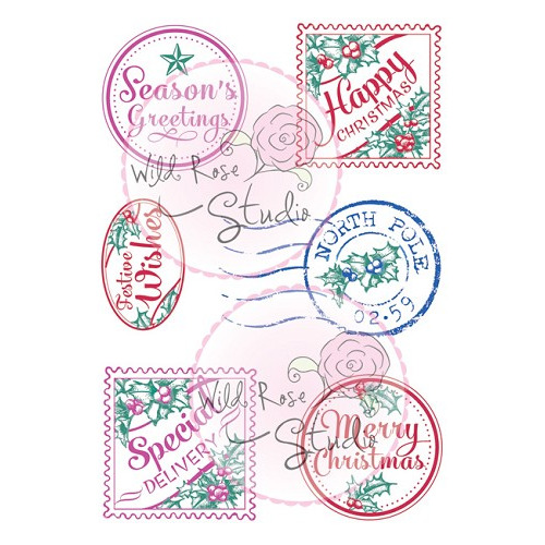 stamp  Robins on Presents