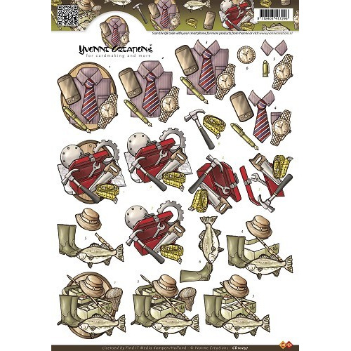3D Knipvel - Yvonne Creations - Mannen