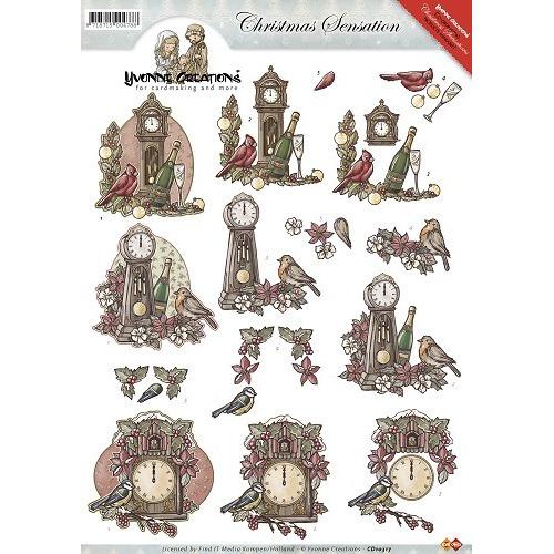 3D Knipvel - Yvonne Creations - Christmas Sensation - Kerstklokk