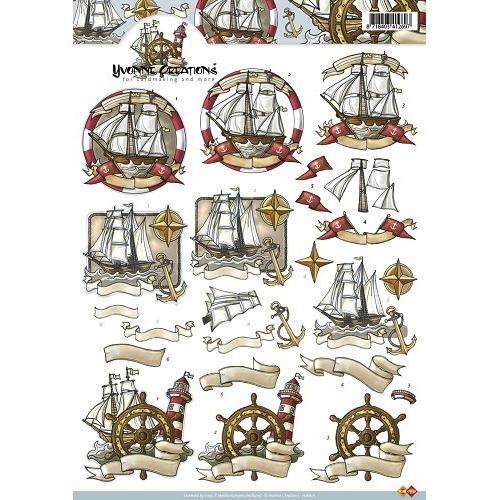 3D Knipvel - Yvonne Maritiem schepen