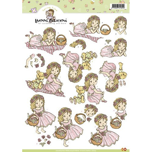 3D A4 Knipvel Card Deco Yvonne Creations CD10155 - picknick