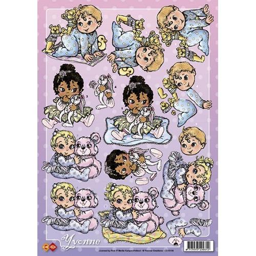 3D A4 Knipvel Card Deco Yvonne Creations - Baby`s