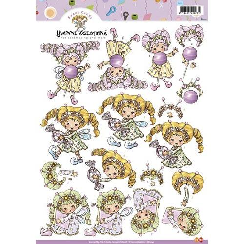 3D A4 Knipvel Card Deco Yvonne Creations CD10145 - Sweet Candy