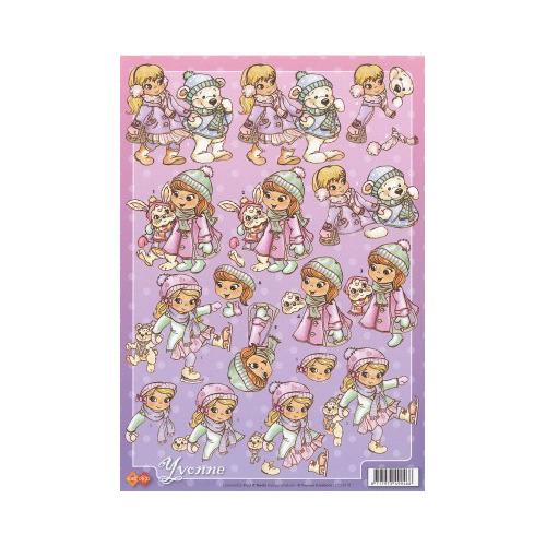 3D A4 Knipvel Card Deco Yvonne Creations CD10119 - Kinderen